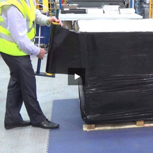 Load image into Gallery viewer, 6 rolls of Shrink Pallet Stretch wrap Cling 400mm wide Black Colour 17mu