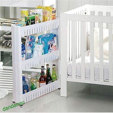 Load image into Gallery viewer, 3 Tier Storage Trolleys, Slim Slide Out, Detachable Shelf with Wheels Storage Caddy