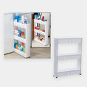 3 Tier Slim Slide Out Trolley with Wheels