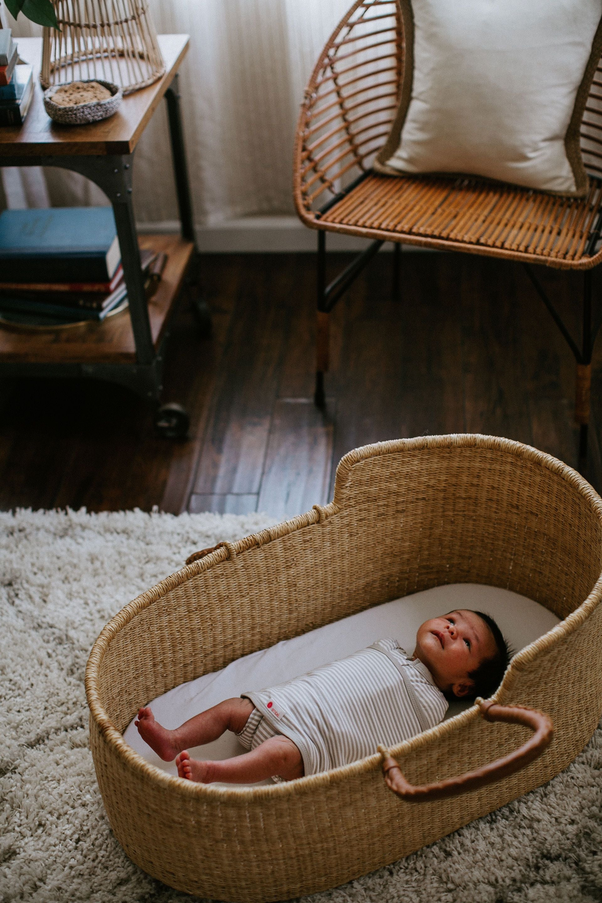Classic 2-Way Swaddle | Gray Stripe
