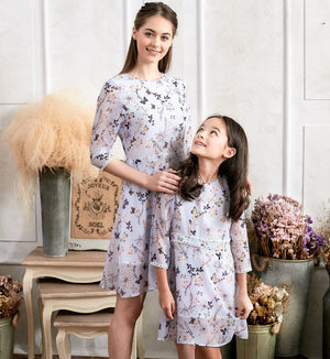 (Set of 2) Floral Lace Dress