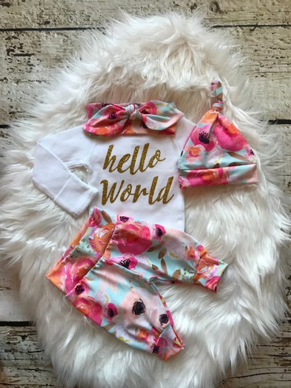 BABY GIRL coming home outfit/newborn girl coming