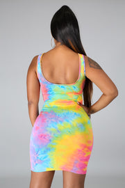 Sugar rush tie dye dress