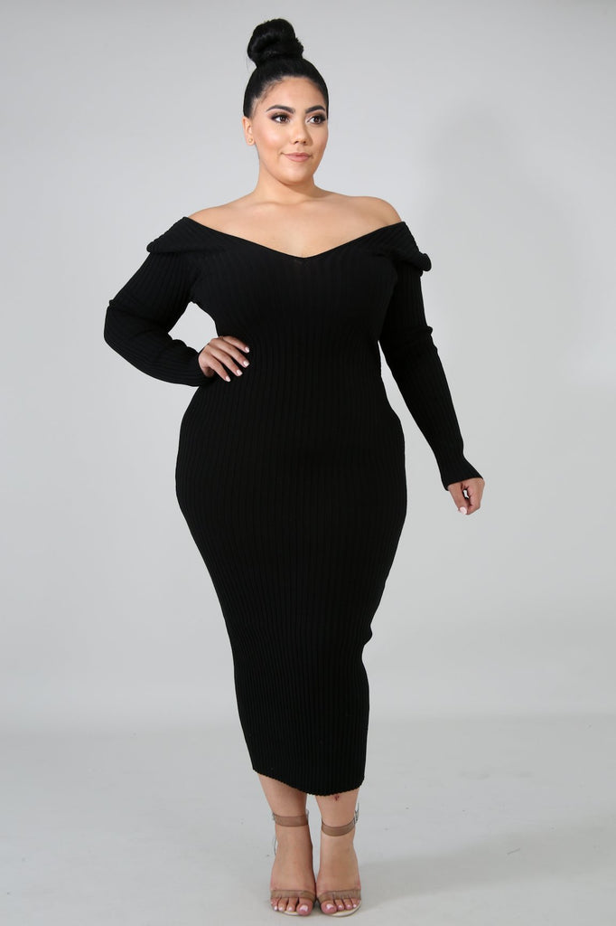 Curves Rib Dress - Slay Brand llc