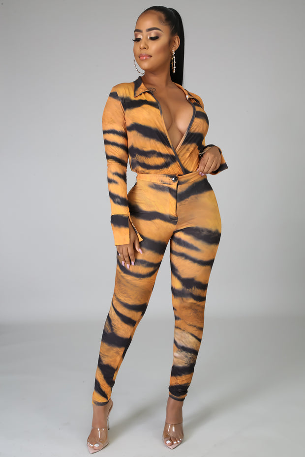 Savage bodysuit pants set