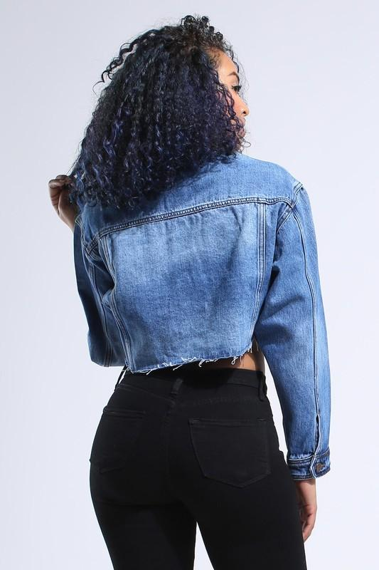 Cropped Denim jacket - Slay Brand llc