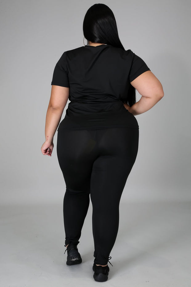 Plus size good to go set