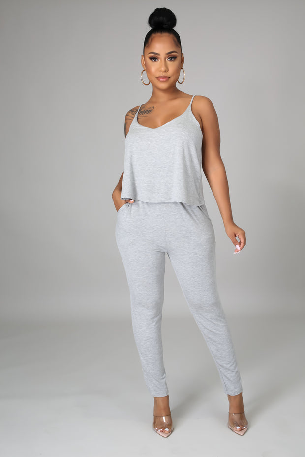 Chill days stretch jumpsuit