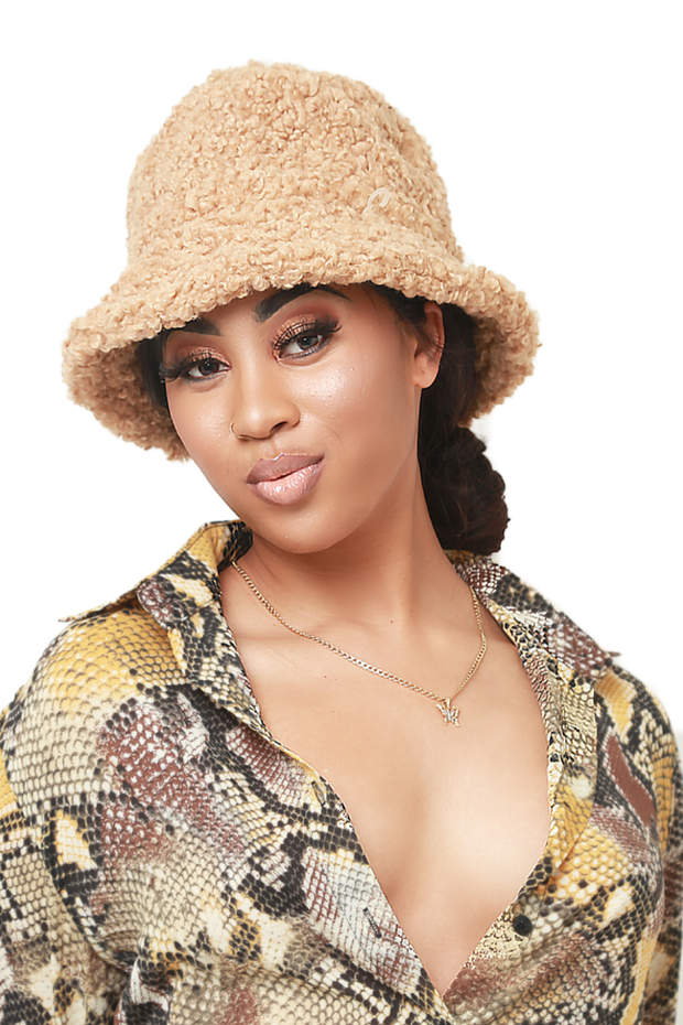 Slay cozy bucket hat