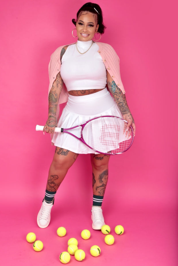 Tennis Cheer skirt set