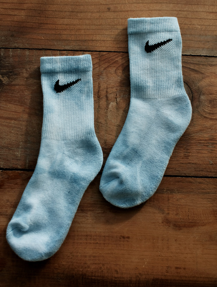 Load image into Gallery viewer, Indigo dyed Nike socks