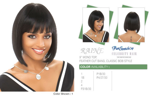 Perruque naturelle Remy Hair RAINE