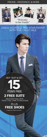 In-Store Special Buy 1 Suit Get 15 Items Free