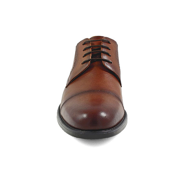 Cognac Midtown Cap Toe Oxford Leather Shoe - Very Comfortable Shoe with cushion