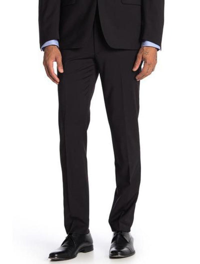 Black Men's Slim Fit Stretch Suit Separates Pants