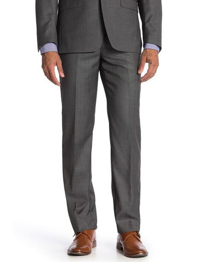 Grey Men's Slim Fit Stretch Suit Separates Pants - Zoomed Out