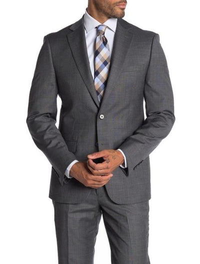 Grey Men's Slim Fit Stretch Suit Separates Jacket-Front