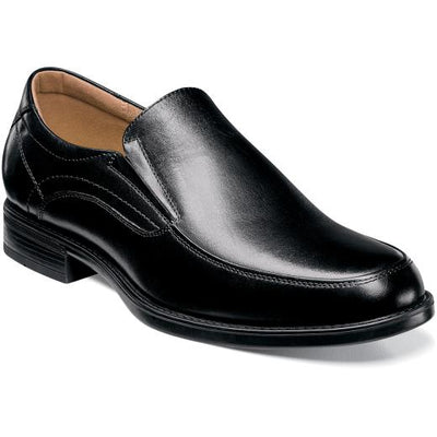 Black Moc Toe Midtown Slip On Shoe - Front View