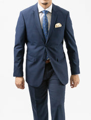Karako Men Denim Blue Modern Fit Suit - Front View