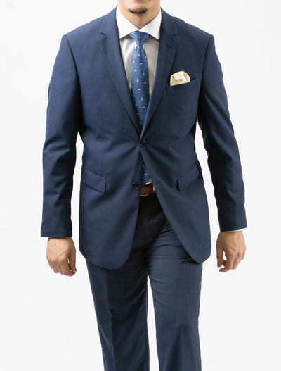 Karako Men Denim Blue Slim Fit Suit - Front View