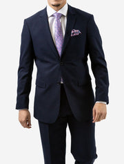 Karako Men Navy Slim Fit Suit - Front View