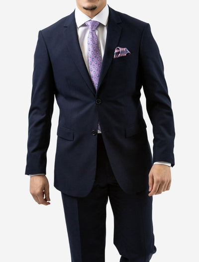 Karako Men Navy Modern Fit Suit - Front View