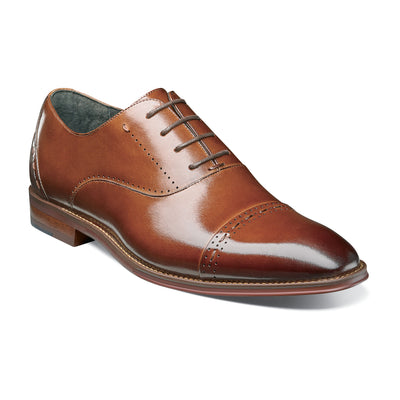Stacy Adams Cognac Barris Cap Toe Oxford Shoes