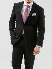 Karako Men Black Slim Fit Suit - Front View