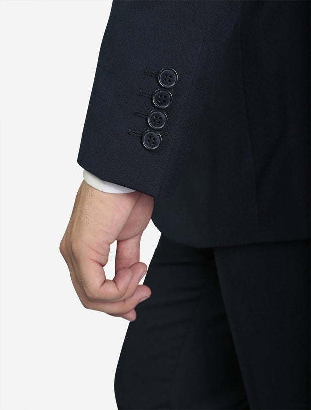 Karako Men Navy Modern Fit Suit - Side View