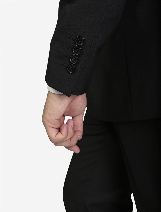 Karako Men Black Modern Fit Suit- Side View