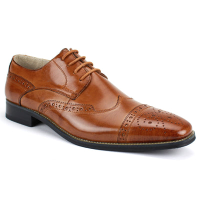Giovanni Tan Lace Up Men's Dress Shoes