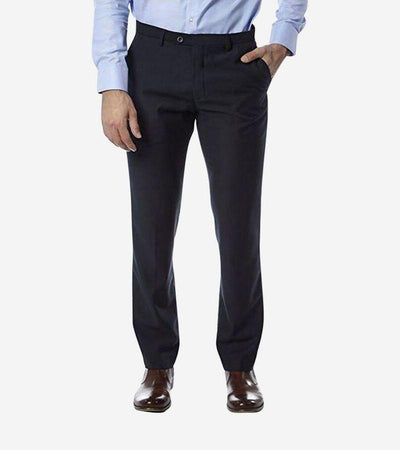 Navy Trim Fit Dress Pants - Front View