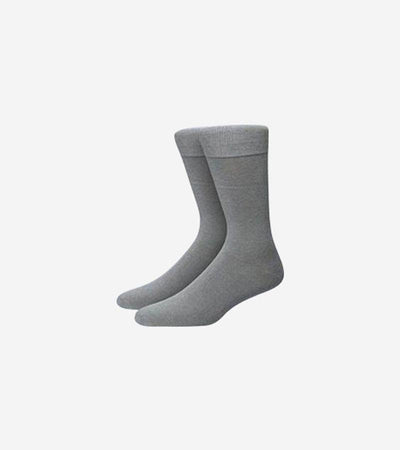 Karako Men Heather Grey Basic Dress Socks