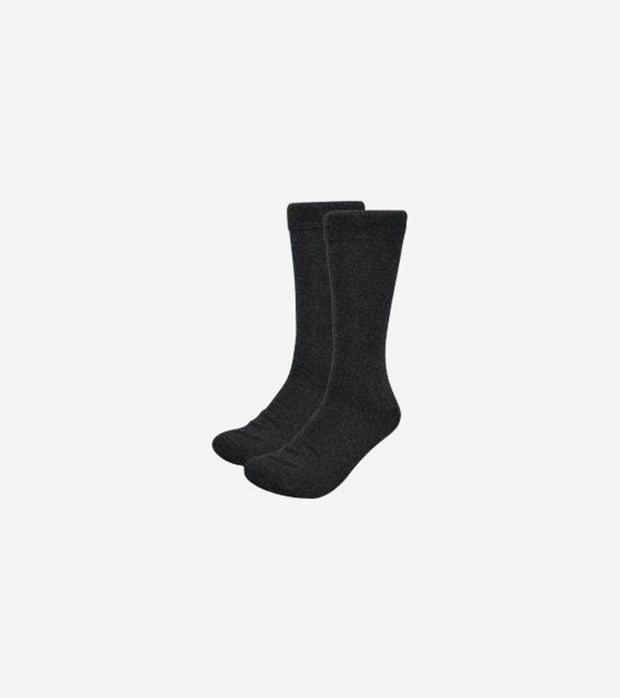 Karako Men Charcoal Basic Dress Socks