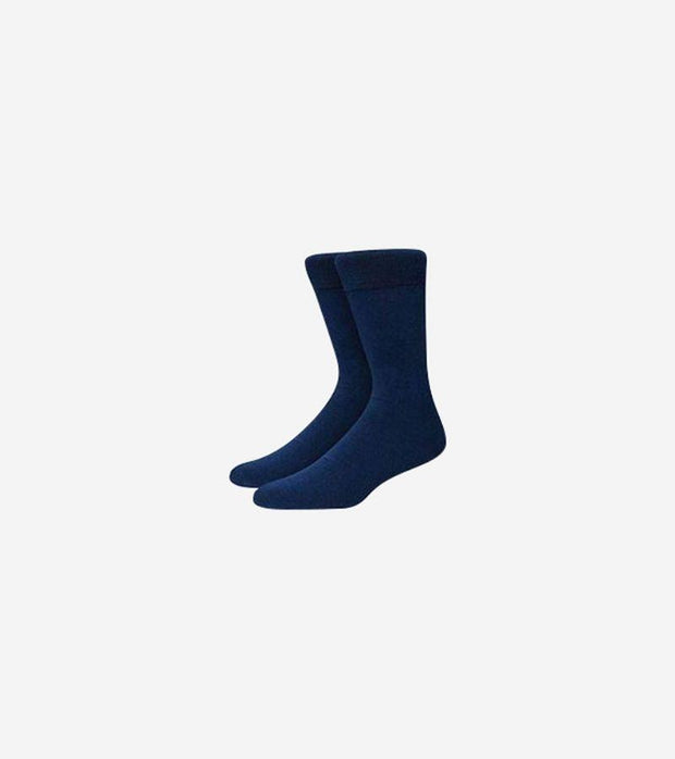 Karako Men Navy Basic Dress Socks