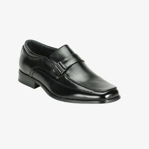 Giorgio Venturi Black Slip-On Men's Dress Shoes