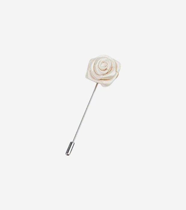 Ivory Round Waved Lapel Pin