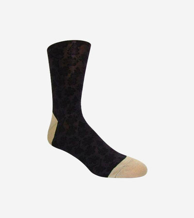 Men's Onyx Black & Gold Patterned Socks