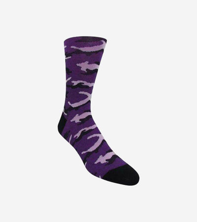Men's Purple & Pink Camouflage Patterned Socks