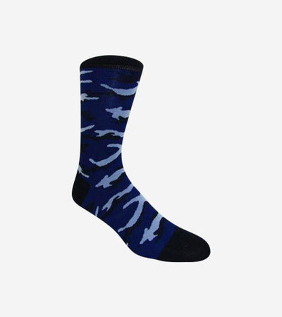 Men's Navy & Powder Blue Camouflage Patterned Socks