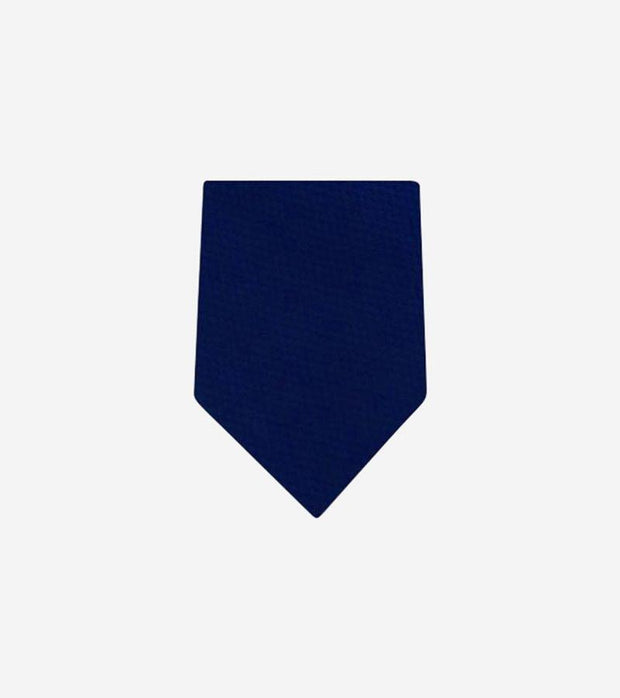 Men's Dark Blue Plain 100% Silk Tie