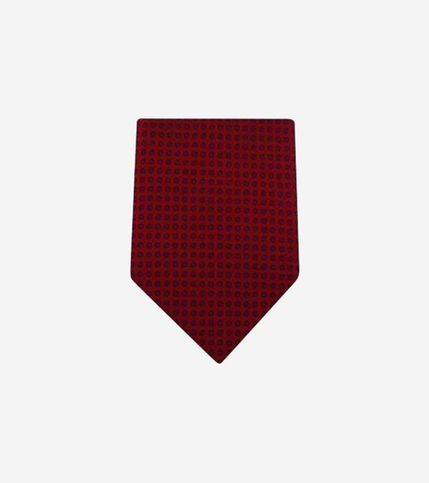 Men's Red Patterned 100% Silk Tie