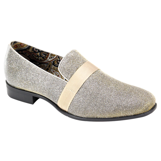 After Midnight Silver Slip-On Velvet Shoes