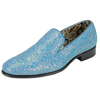 After Midnight Light Blue Rhinestone Slip-On Shoes