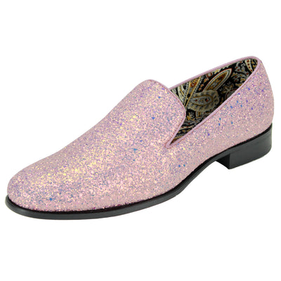 After Midnight Pink Rhinestone Slip-On Shoes
