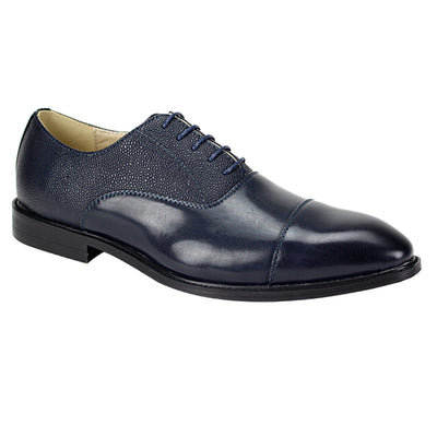 Antonio Cerreli Navy Lace-Up Dress Shoes