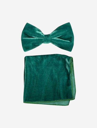 Emerald Green Velvet Bowtie and Hanky