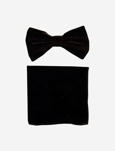 Brown Velvet Bowtie and Hanky