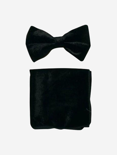 Black Velvet Bowtie and Hanky