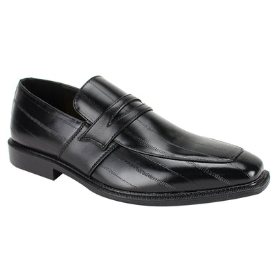 Antonio Cerreli Black Slip-On Dress Shoes